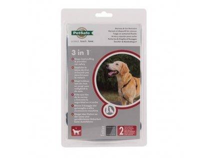 PetSafe postroj pro psy 3v1, Harness and Car Restraint, černý, velikost L