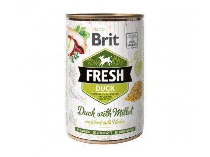 15629 brit dog fresh konz duck with millet 400 g