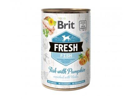 15638 brit dog fresh konz fish with pumpkin 400 g