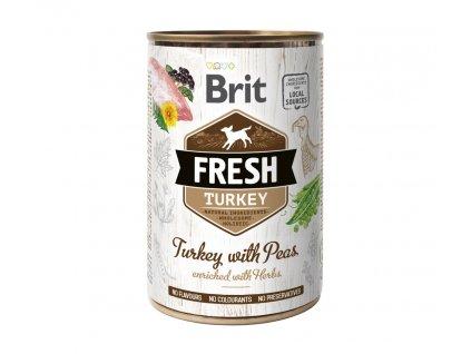 15635 brit dog fresh konz turkey with peas 400 g