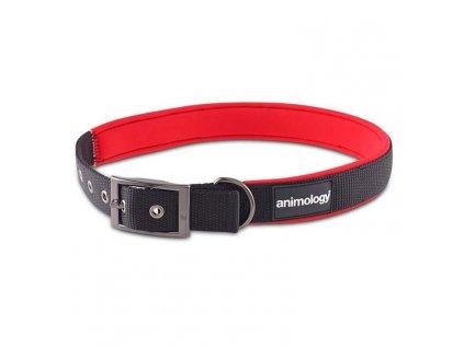 Animology obojek pro psa, neoprenový, červený, velikost M