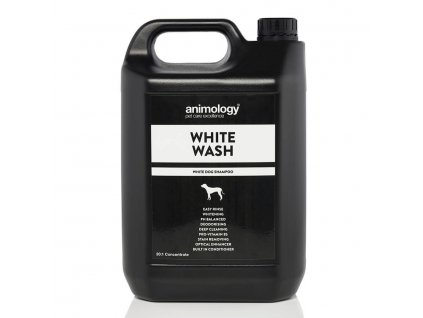 ANIMOLOGY Šampon na bílou srst White Wash, koncentrát 20:1, 5l