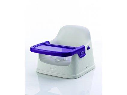 Keter Jídelní židlička fialová 39x37x32cm