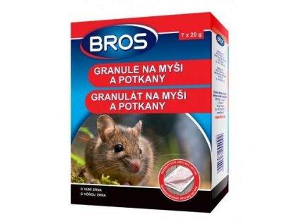 12908 bros granule na mysi a potkany 7x20 g rodenticid