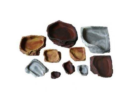 Lucky Reptile nádobky pro krmení a napájení Granite malá cca. 11x8x2.5 cm
