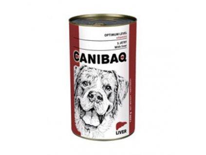 1624 canibaq classic konzerva pes jatra 1250 g