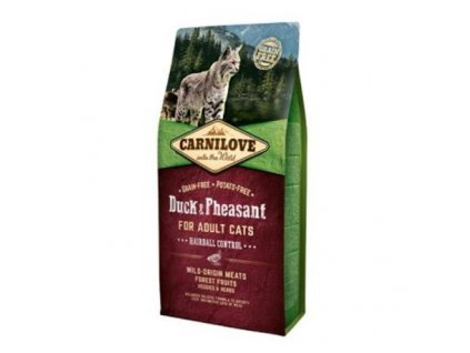 17723 carnilove cat duck pheasant adult hairball control 2 x 6 kg
