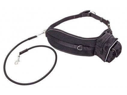 Karlie sportovní pás s vodítkem, černý, 65-120cm