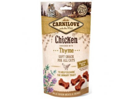 17945 carnilove cat semi moist snack chicken thyme 50 g