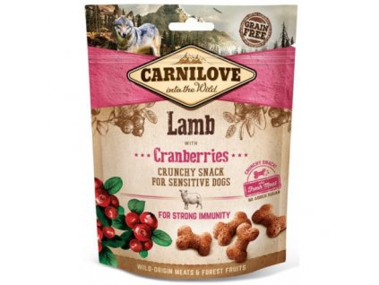 17888 carnilove dog crunchy snack lamb cranberries 200 g