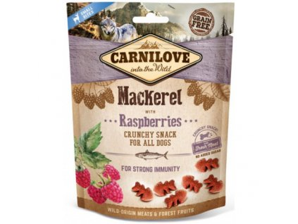 17879 carnilove dog crunchy snack mackerel raspberries 200 g
