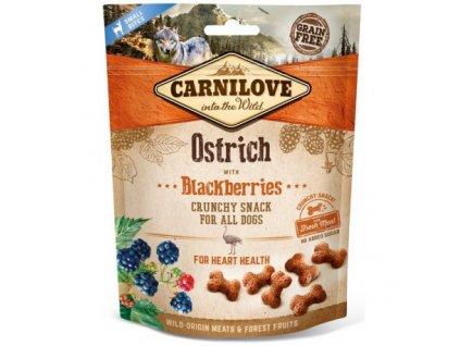 17894 carnilove dog crunchy snack ostrich blackberries 200 g