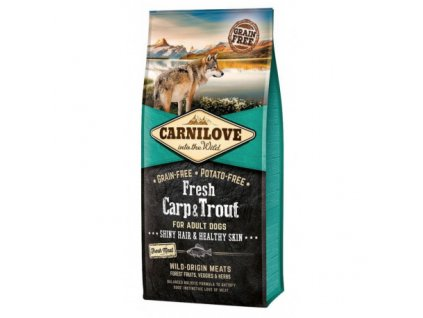 17930 carnilove dog fresh carp trout for adult 1 5 kg