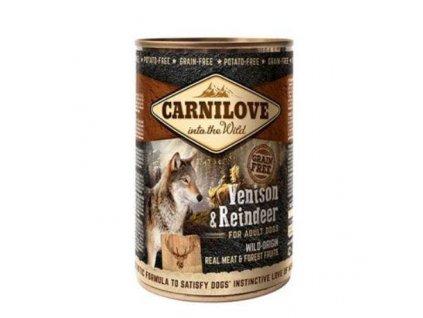 17774 carnilove wild konz meat venison reindeer 400 g