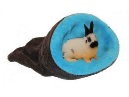 Marysa pelíšek 2v1 mini pro hlodavce/fretky, tmavě šedý/modrý