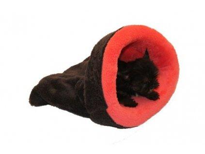 Marysa pelíšek 2v1 mini pro štěňátka/koťátka, tmavě růžový/tmavě šedý