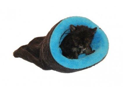 Marysa pelíšek 2v1 mini pro štěňátka/koťátka, modrý/černý