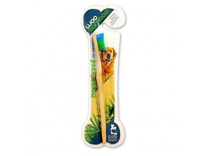 WooBamboo zubní kartáček z bambusu pro střední a velké psy