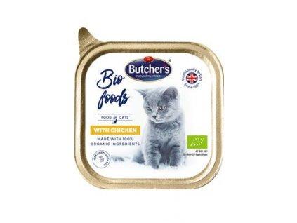 Butcher's Cat Bio s kuřecím vanička 85g
