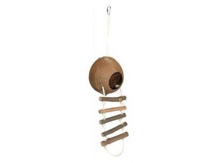 Domek kokosový s žebříkem pro křečky 13x56cm TR