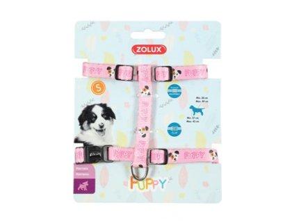 Postroj pes štěně MASCOTTE nastavitelný růžový 13mm Zo
