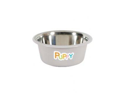 Miska nerez protiskluz pes PUPPY 850ml šedá Zolux