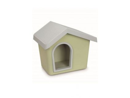Bouda pro psa plastová zelená 72,2x61,8x62,3cm IMAC
