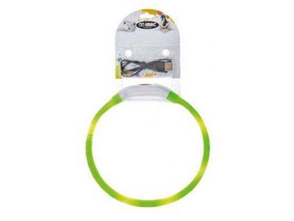 Obojek LED s USB dobíjením 40cm zelený/modrý IMAC