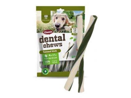 Dental Chews Twisted Stick máta a čaj 170g/12ks