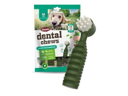 Dental Chews Super Toothbrush máta a čaj 170g/11ks