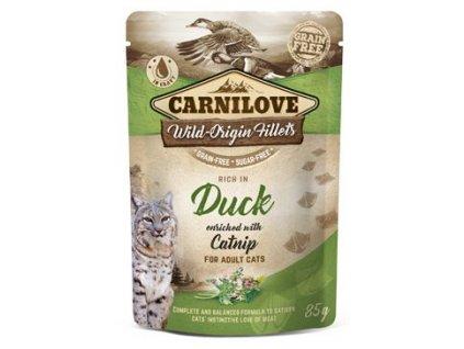 Carnilove Cat Pouch Duck Enriched & Catnip 85g