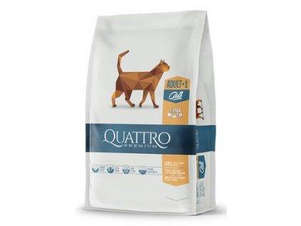 QUATTRO Cat Dry Premium all Breed Adult Drůbež 1,5kg