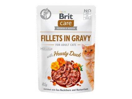 Brit Care Cat Fillets in Gravy Hearty Duck 85g