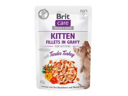 Brit Care Cat Fillets Gravy Kitten Tender Turkey 85g