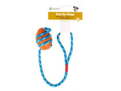 Hračka pes granát ježatý na šnůře 45cm