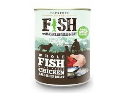 Topstein Fish with Chicken and Beef Meat 800 g