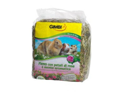 Gimbi Seno krmné s růží 500g