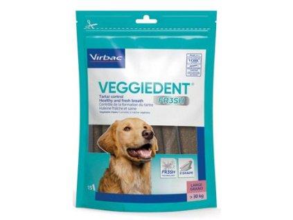 C.E.T.pes Žvýkací plátky Veggiedent NEW L 15ks