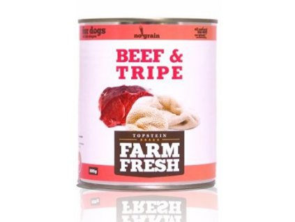 Farm Fresh Dog Beef&Tripe konzerva 800g
