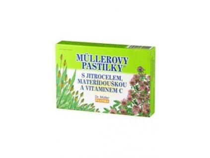 Dr.Muller Pharma Pastilky s jitroc/mateří a vit.C 24ks