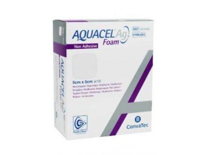 Aquacel foam AG neadhesivní 5x5cm/10ks krytí na rány