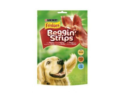Friskies pochoutka pes Snack Beggin Strips bacon 120g