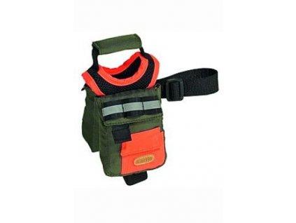 Batoh pro psy M zelená/oranž. reflexní KAR