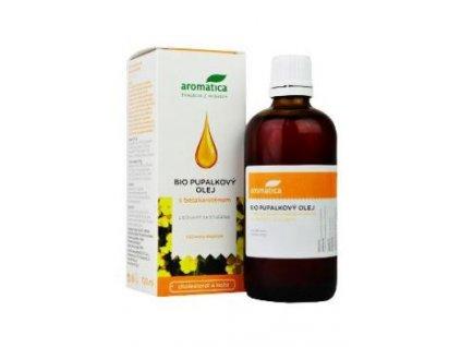 Pupalkový olej BIO vit E a beta-karot 100ml Aromatica
