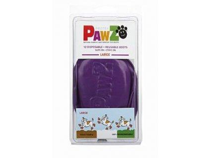 Botička ochranná Pawz kaučuk L fialová 12ks