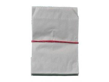 Sáček lékárenský papírový bílý 9x14cm 100ks
