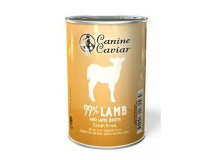 Canine Caviar konzerva jehně 375g
