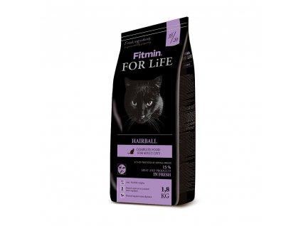 fitmin cat for life hairball 1 8 kg h L