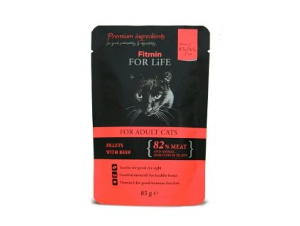ffl cat pouch adult beef 85g h M