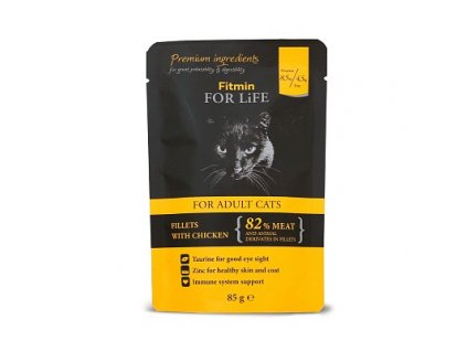 2275 fitmin cat pouch adult chicken kapsicka 85 g